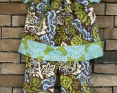 SALE SaLE The Maggie Lou Peasant Top and Ruffle Pants 2T READY to SHIP Last OnE