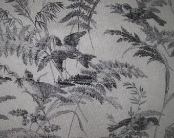 toile BIRDS Black  Cotton