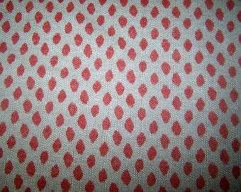 SAHARA GERANIUM on FLAX  designer multipurpose fabric
