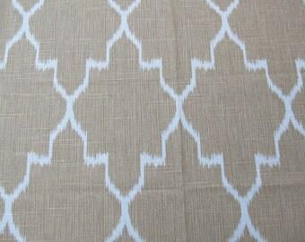 MONACO STRAW  designer, decorator/drapery/bedding/upholstery ikat fabric