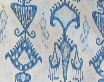 Khandar Indigo by Robert Allen designer home decor multipurpose fabric