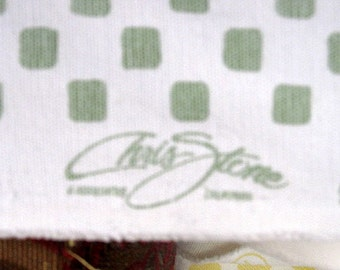 CHRIS STONE designer fabric Green and White check
