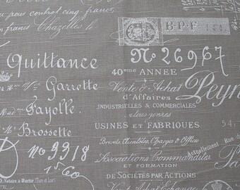 FABRIC SQUARE 27x27 french script 27x27 inches