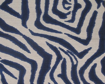 ZEBRA ikat in Navy designer home decor multipurpose fabric