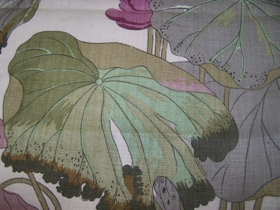 G.P.BAKER Linen Textile NYMPHEUS  only two  yards left