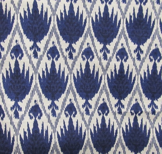 Casablanca Ikat Blue White designer, multipurpose ikat fabric