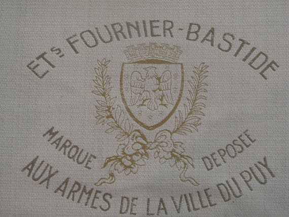 FRENCH Crest Motif 26x26 pillow front /chair upholstery fabric square
