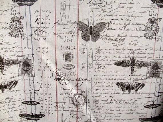 ANTIQUE LEDGER Document Script designer multipurpose fabric