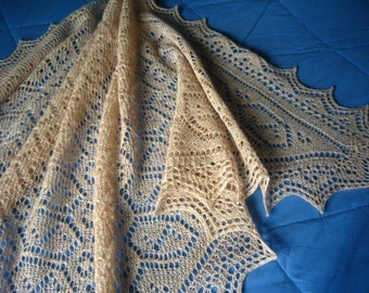 Pure Shetland Wool Glenlara Lace Shawl