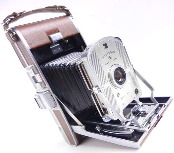 Vintage Polaroid 95B Land Camera - Vintage Mid Century Retro Photography / Accordion
