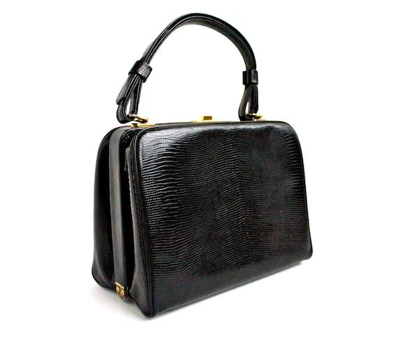"Black Vintage Purse - Vintage 1960s ""Box"" Bag"