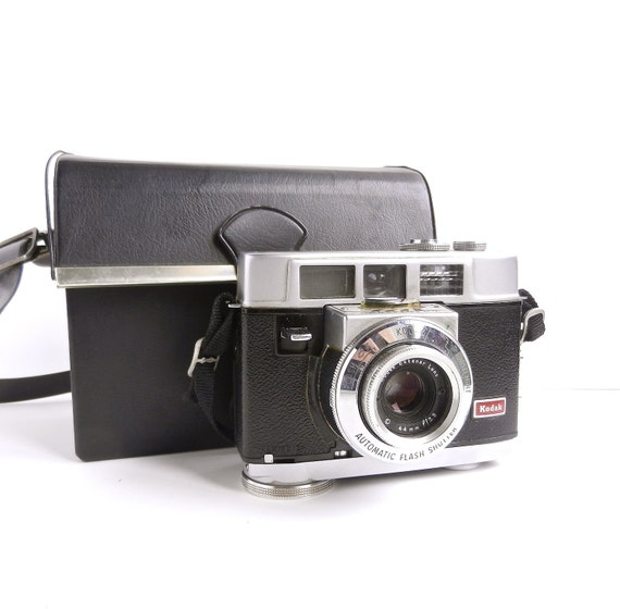 Vintage Kodak Motormatic 35 Camera with Case / 1959