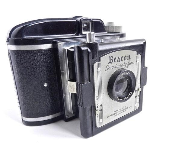 Beacon Two Twenty Five Camera - Black Vintage Camera & Instruction Manual / 1950s Photography