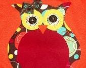 Orange Girly Owl Shirt