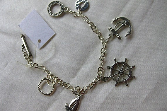 Handcrafted Nautical Charms Bracelet (D106)