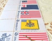 Flags of the Revolution Complete Set of 10 UNused Vintage US Postage Stamps Save the Date Wedding Postage 1960s 6-cent Colonial Cottage Chic