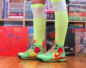 Vintage Get In Shape Girl 80s Nike Unisex Neon Prototype Flight Lite AF1 ACG Basketball Sneakers Petite Womens Size 5 Boys 3.5