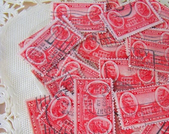 Love at the Hermitage 50 Vintage 30s Andrew Jackson US Postage Stamps Philately Nashville TN Tennessee Valentine