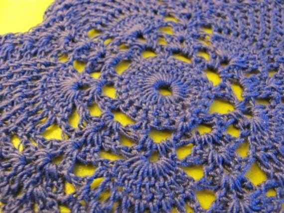 Handmade Crochet Starfish Dainty Blue Starfish 7 Inch Sea Star Doily Coaster Embellishment Applique Scrapbooking Vintage Home Design Chic