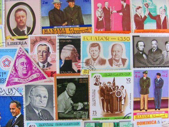 Who Shot JFK 50 Vintage US Worldwide Presidential Late Greats Postage Stamps Philately Dead Presidents