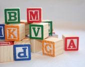 Miniture Wooden Alphabet Blocks 15 Count