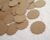 Kraft Scalloped Tag Cutouts 100 Count