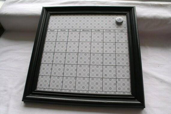 Dry Erase Magnetic Calendar Frame