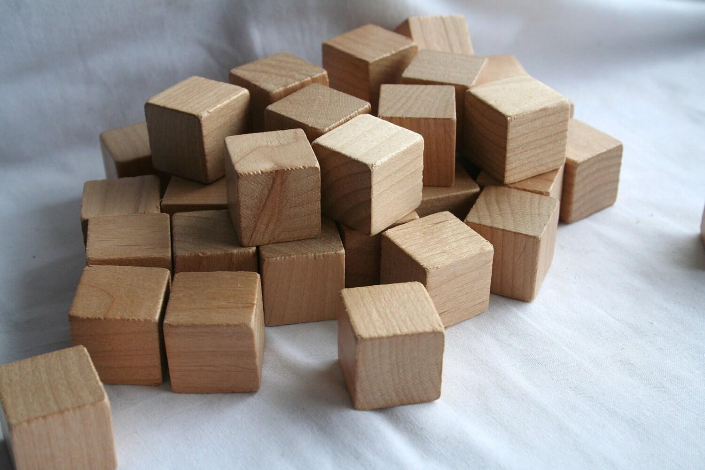 items similar to vintage 1 inch wooden blocks set of 20 on etsy. Black Bedroom Furniture Sets. Home Design Ideas