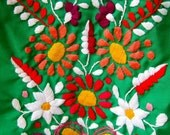 Mexican Embroidered Smock Dress Tunic