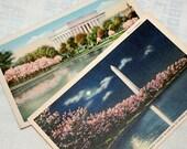 Vintage Postcards from Washington DC Set of 2