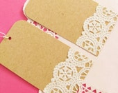 ON SALE - Vintage Doilies Gift Tags - Set of 10