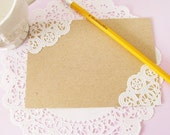 ON SALE - Vintage Doilies Note Cards - Set of 10