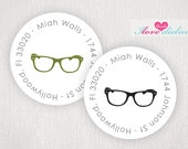 ON SALE - Hipster Spectacles/Glasses Return Address Labels
