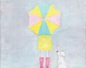 Rainy Days - 5 x 7in Original Painting