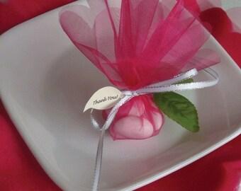 25 You Pick Scalloped  Edge Sheer Organza Circle Gift Wrap  (CIR-SOLID-25)