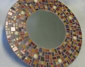 Retro Modern Burgundy Mirror