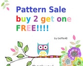 Pattern Sale, THREE Patterns for the price of TWO. Pick ANY three patterns, pdf format emailed to you