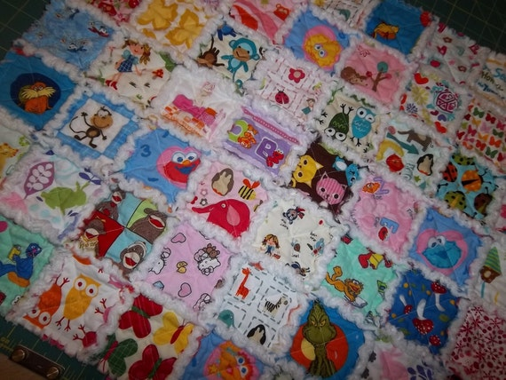 Rag Quilt I Spy Pattern Tutorial Easy Instructions W By