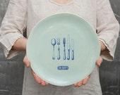 Victorian Cutlery Dinner Plate