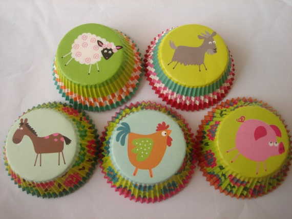 cupcake liner pig craft items similar to farm animal pig rooster goat 4198