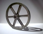 "Vintage 8"" Spoked Congress Drive Pulley / Detroit / Cast Metal"
