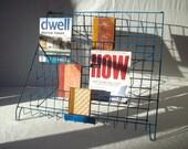 Vintage Metal Display Rack / Book and Magazine Organizer / Stairstep Wire Display / LAST ONE