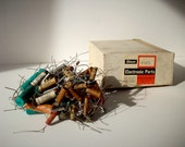 Vintage Electronic Parts with Box / Olson Electronics