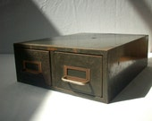 Vintage Metal Industrial File Drawers