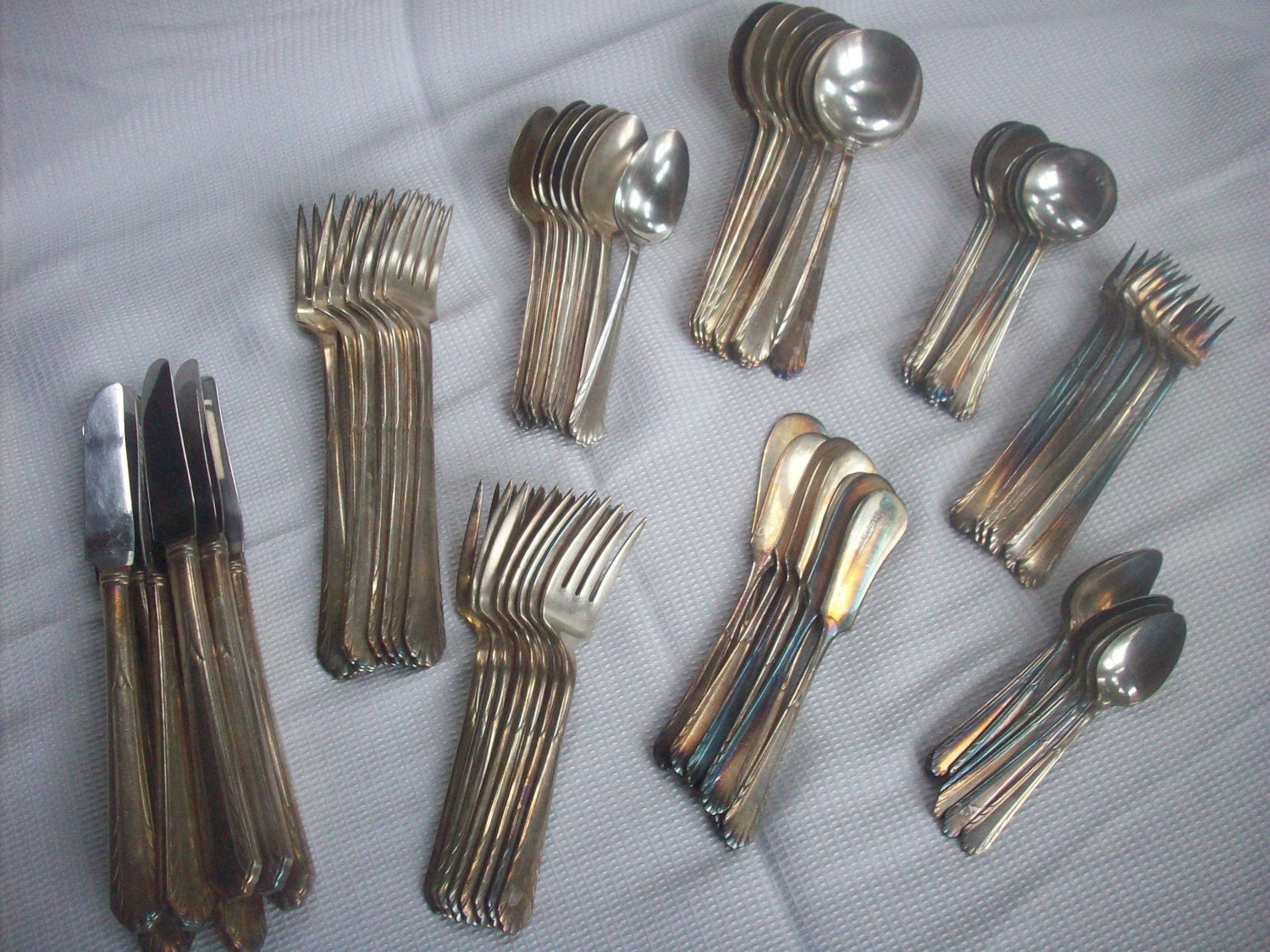 Vintage Silverware Set 8 Place Settings National Silver Co