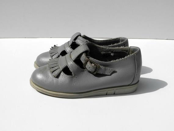 Vintage Grey Dyna Kids Girls Shoes