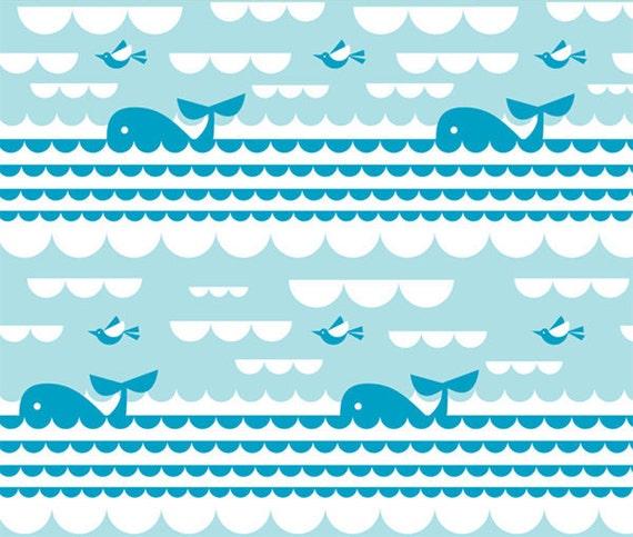 Organic Fabric - Marine Sea and Sky by Dan Stiles (1/2 METRE)