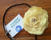 Large Soft and Sweet Yellow Flower headband