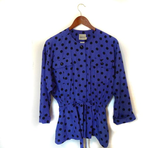 Vintage Polka Dots blouse / Tunic