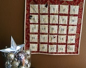 Christmas - Custom Quilted Advent Calendar, perfect for the HOLIDAYS - FREE shipping